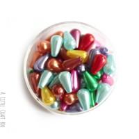 30 perles nacrées Goutte  - panaché