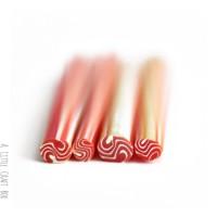 1 cane  rond vagues pâte polymère