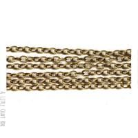 [ GROS LOT ] 5m  chaine à maillon droit 4x3mm -  bronze