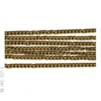 [ GROS LOT ] 10m  chaine à maillon torsadé 3x2.2mm -  bronze