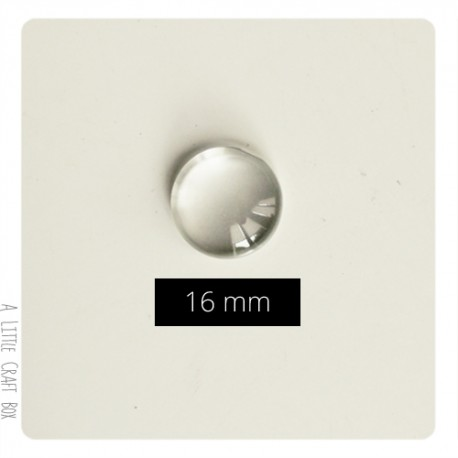1 cabochon en verre 16mm