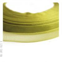 1m Ruban en organza  10mm - vert olive