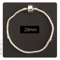 1 bracelet CHARMs en métal 20cm - argent