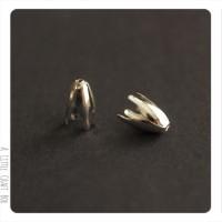 10 calottes / coupelles Tulipe 13x8mm - argent