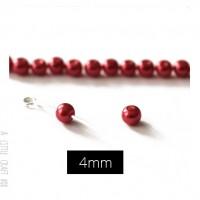 20 perles de verre 4mm - rouge