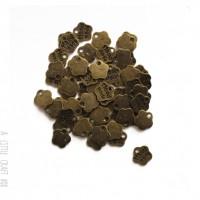 [ GROS LOT ] 50  breloques handmade minifleur - bronze