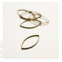 5  anneaux fermés 20x11mm - bronze