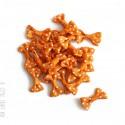 [ GROS LOT ]  40 noeuds en tissu à pois coloris orange