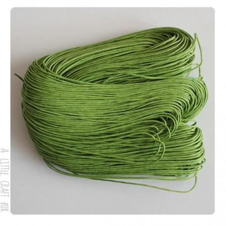 [ GROS LOT ] 80 mètres de cordon ciré 1mm coloris vert