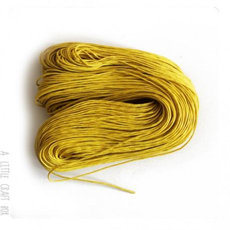 [ GROS LOT ] 80 mètres de cordon ciré 1mm coloris jaune