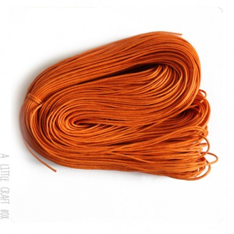 [ GROS LOT ] 80 mètres de cordon ciré 1mm coloris orange