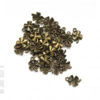 [ GROS LOT ] 50 breloques trèfle bronze