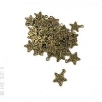 [ GROS LOT ] 50 breloques étoile just for you coloris bronze