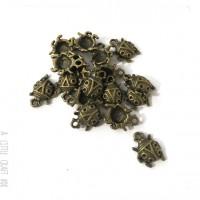 [ GROS LOT ] 35  breloques coccinelle coloris bronze
