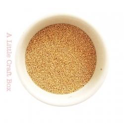 10g micro bille en verre - or
