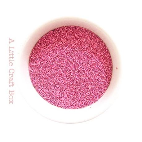 10g micro bille en verre - rose