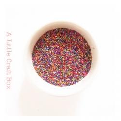 10g micro bille en verre - multicolore
