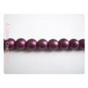 5 perles de verre mat 10mm - prune