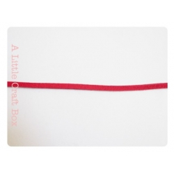 1m de suedine imitation daim 2.5mm - rouge