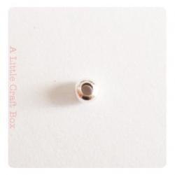 50 perles séparatrices 3mm - argent