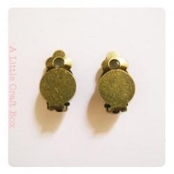 1 paire BO à clip / pince - bronze
