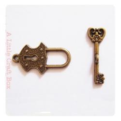 "1 fermoir ""toggle  cadena & clé "" - bronze"