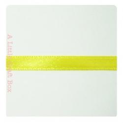 1m Ruban en satin 6mm - jaune