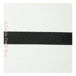 1m Ruban gros grain 9.5mm - noir