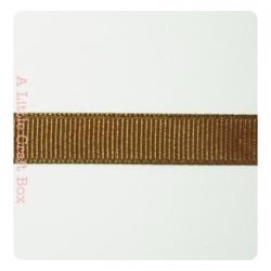 1m Ruban gros grain 9.5mm - marron