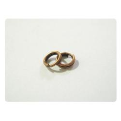 50 anneaux double ouverts 5mm - bronze