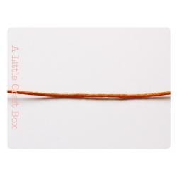 1m de coton ciré 1mm - orange