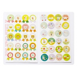 "Set 2 planches stickers  ""ronds kawaii"""