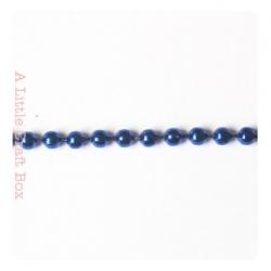 1m de chaine à bille 2mm - bleu métalique