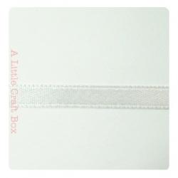 1m Ruban en satin 6mm -  blanc