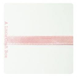 1m Ruban en satin 6mm - rose pastel