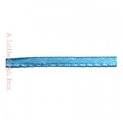 1m Ruban en satin 3mm - bleu