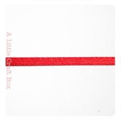 1m Ruban en satin 3mm - rouge