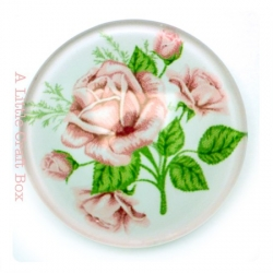 """1 cabochon 25mm """"bouquet de roses pales"""""""
