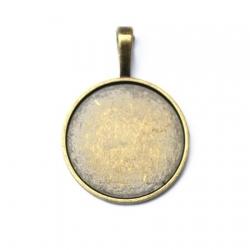 1 estampe pour cabochon 25mm - bronze