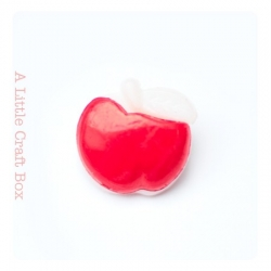 "1 bouton ""pomme"" - rouge"