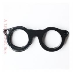 """1 pendentif """"lunette"""" - noir"""