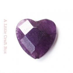 1 perle à facette coeur agate 20x20mm - violet