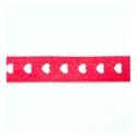 1m Ruban en satin à coeur 9.5mm -  rouge