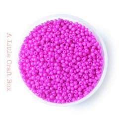 20g de perles de rocaille 2mm - fushia opaque
