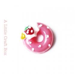 """1 cabochon """"donut"""" - fushia"""