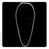 1 collier de 80cm de chaine à bille 1.5mm avec fermoir  - argent