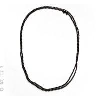 1 collier de 80cm de chaine à bille 2mm avec fermoir  - gunmetal