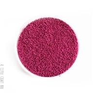 10g micro bille en verre - fushia