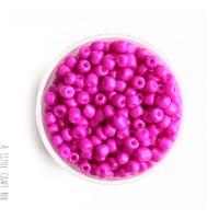 20g de perles de rocaille 4mm - fushia opaque