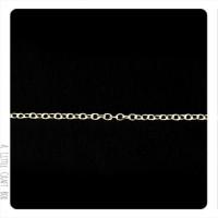 1m chaine à maillon droit 2x1.5mm - argent